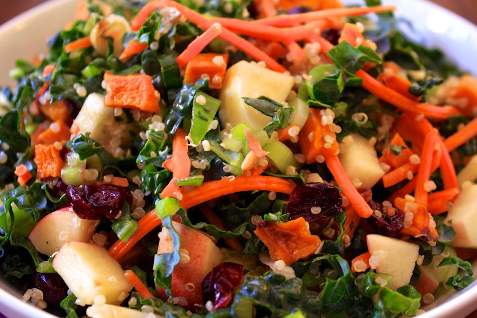 Roasted Butternut Squash & Kale Salad