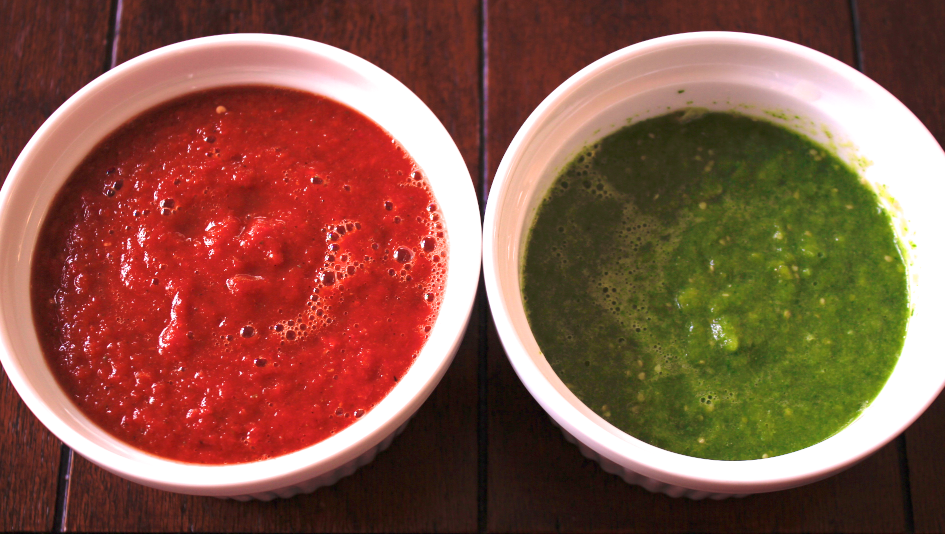 Red & Green Sauce for Baked Chimichangas