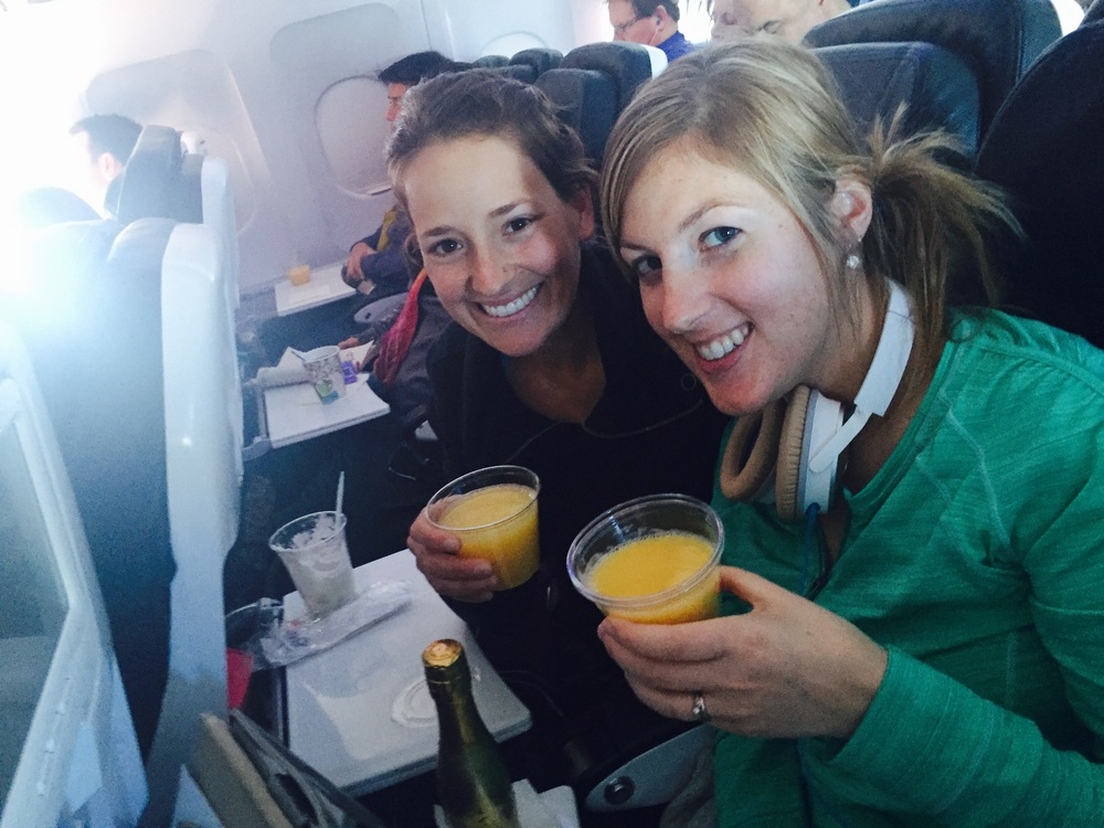 Pre Marathon Celebratory Mimosas!