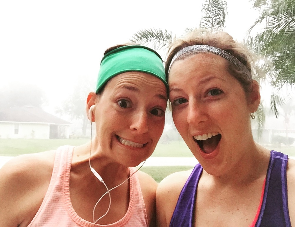 It was a humid and foggy morning on Saturday, but we got up early to get an easy three miles in!