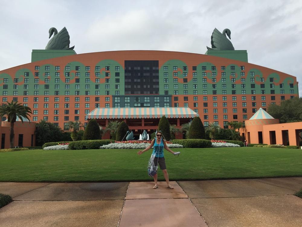 Marci at Disney's Swan Hotel!