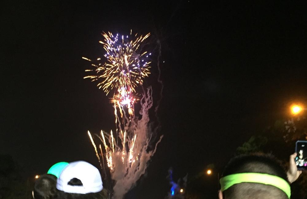 Fireworks at each corral start!