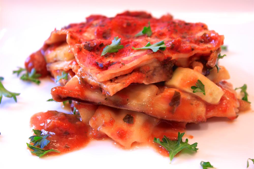 Mushroom, Eggplant, & Zucchini Lasagne