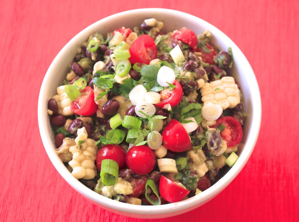 Black Bean, Corn, Tomato & Avocado Salad