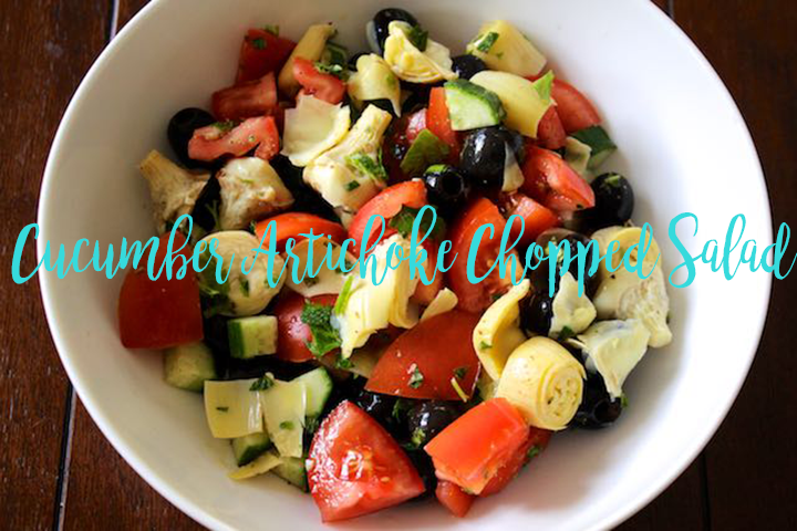 Cucumber Artichoke Chopped Salad