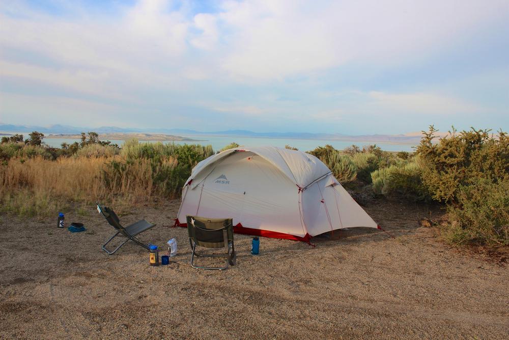We finally found home eight hours later alongside Mono Lake.