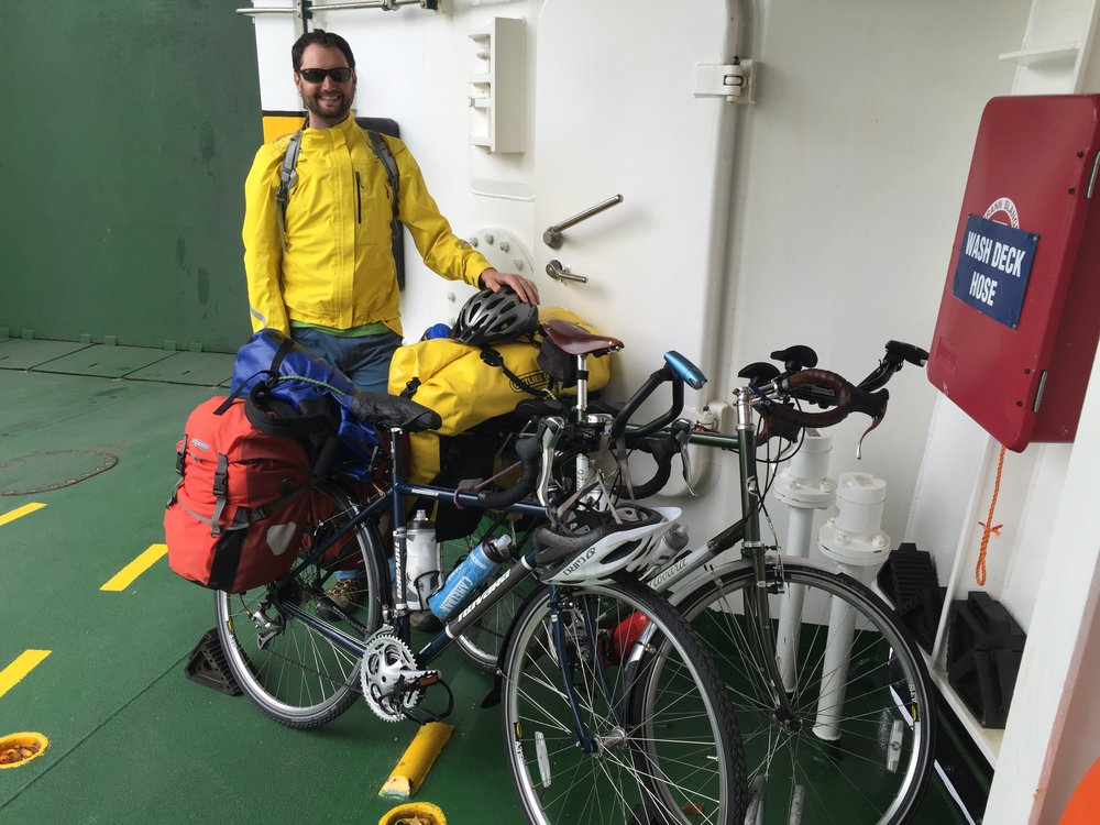 Hanging out with the bikes on the ferry
