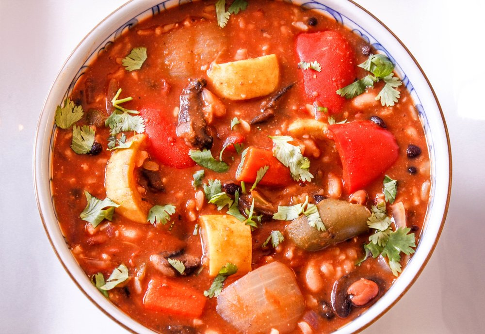 Chunky Vegetable Chili and Rice