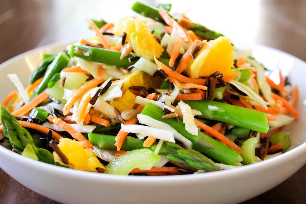 Asparagus Wild Rice Bowl