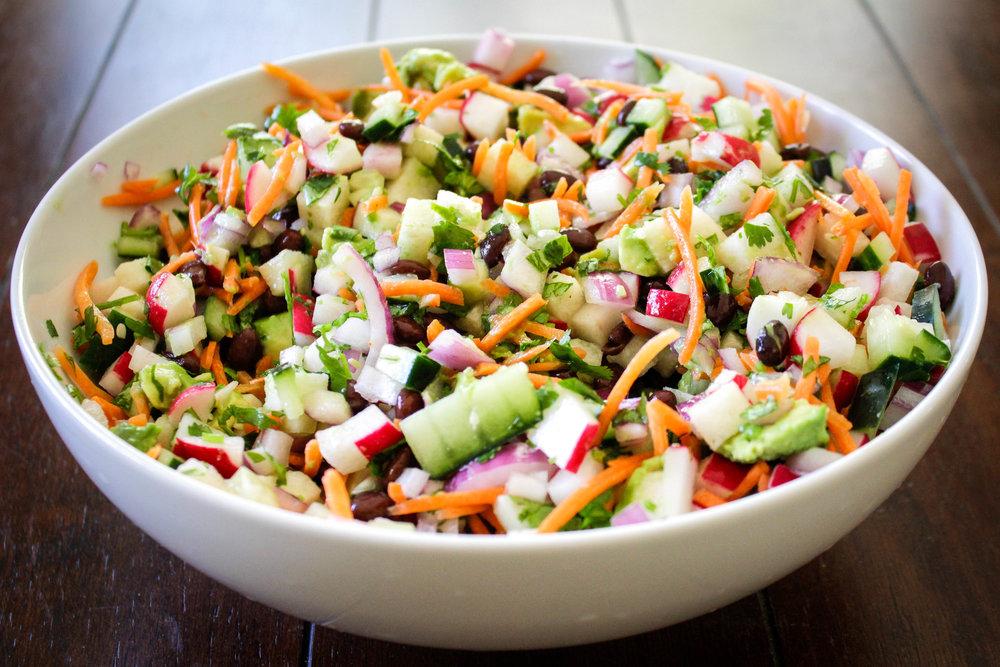 Radish Black Bean Salad