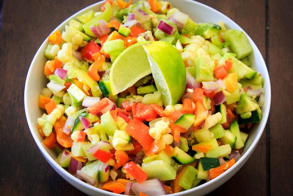 Chopped Bell Pepper Salad