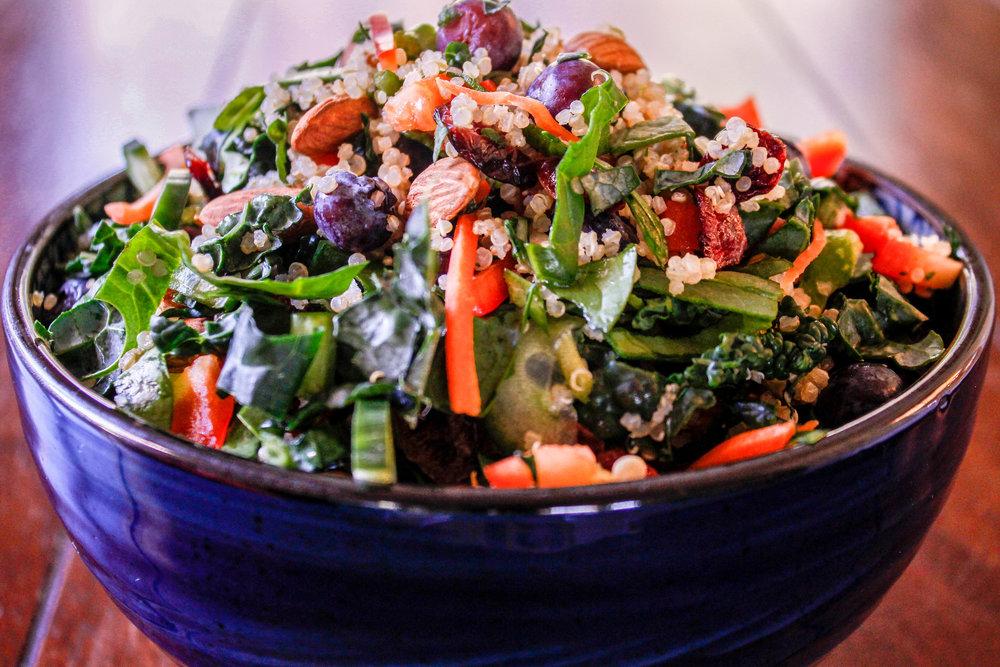 Quinoa Blueberry Bowl