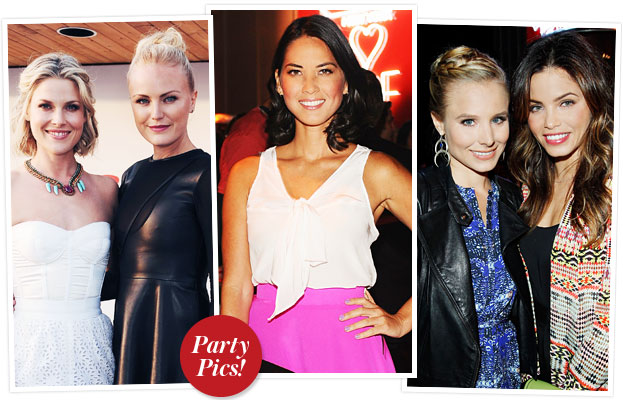 "Malin Akerman in Mandy Coon. ""If I had a heart"" Leather and Chiffon Dress <3"