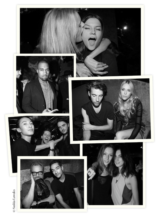 grandlifehotels: On October 1st in Paris, Regine club hosted the NY NY Party aka THIS IS NEW YORK. Nocturnal rendezvous for fashion, the event had invited Olivier Rousteing creators, Anthony Vaccarello, Christopher Kane, and the top Arizona Muse and Kanye West. Pictorial review of the evening by Saskia Lawaks via French Vogue. Click HERE to see more.