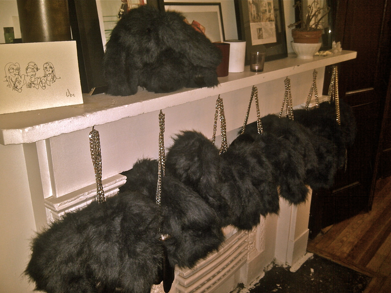 BUNNY BAGS IN THE HOUSE!  *AW12 Exclusive Navy Blue Faux Fur Bunny… named Franny*