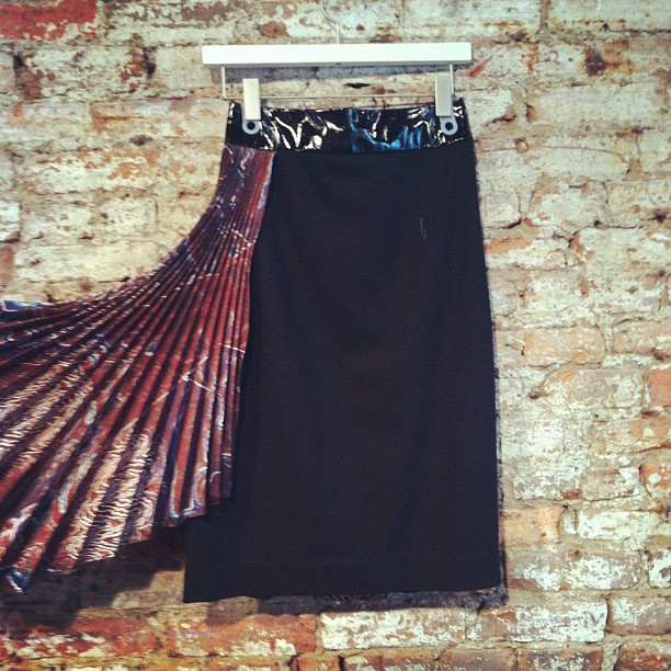 owennyc: New @mandycoon pleated print skirt is A+mazing. Now at @owennyc. (Taken with Instagram)