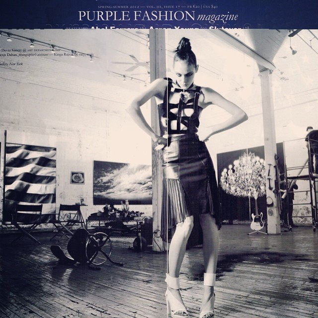 #tbt full look MC SS12 in Purple Magazine  @nouveaupr @teamnouveau @ozpurple