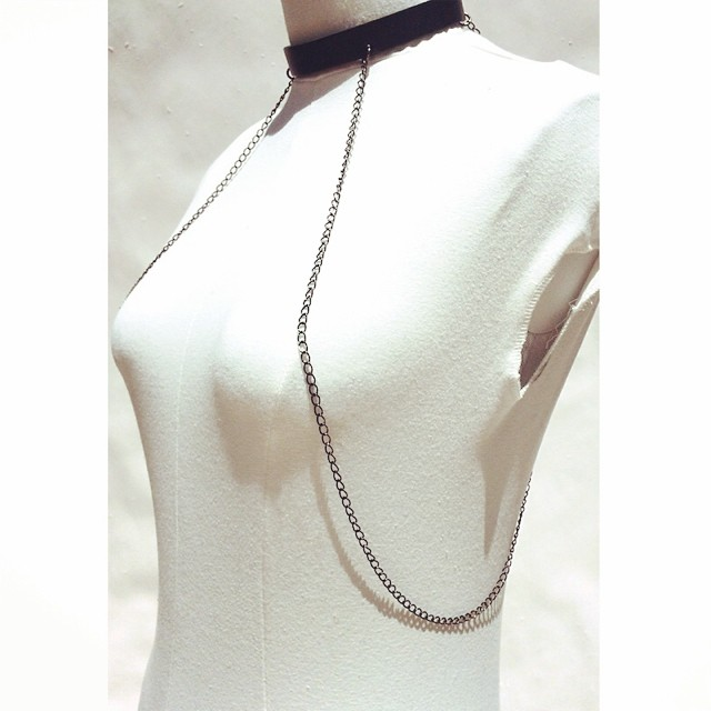 THRILLS draped chain collar.   #intothewoods #mandycoon   available on mandycoon.com