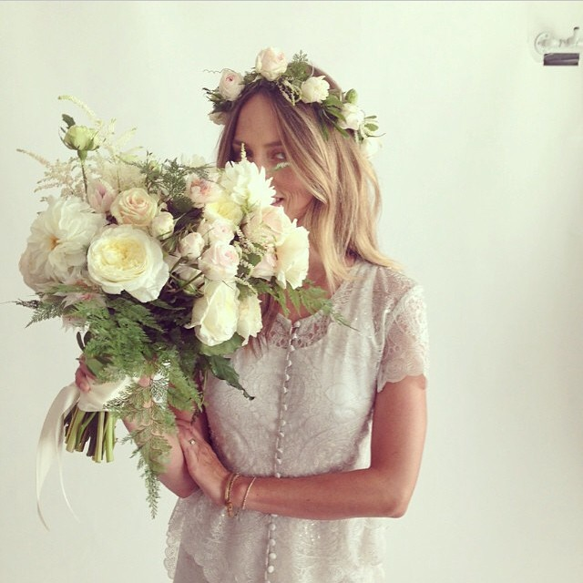regram @stonefoxbride-  @leilanibishopfragrances looking gorgeous in Mandy Coon for SFB and Stone Fox Flowers!