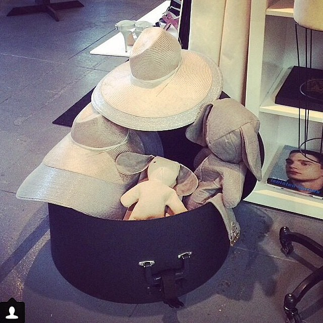 Press days at @nouveaupr- love our @mandycoon x @dominic_louis bunny bags and @faethmillinery x DL hats! regram @dominic_louis