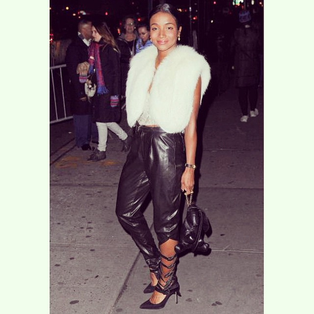 #fbf Genevieve Jones looking foxy in MC Leather Strap Pants and Ginny Bunny Bag ❤️🐇❤️ @genevieve_jones