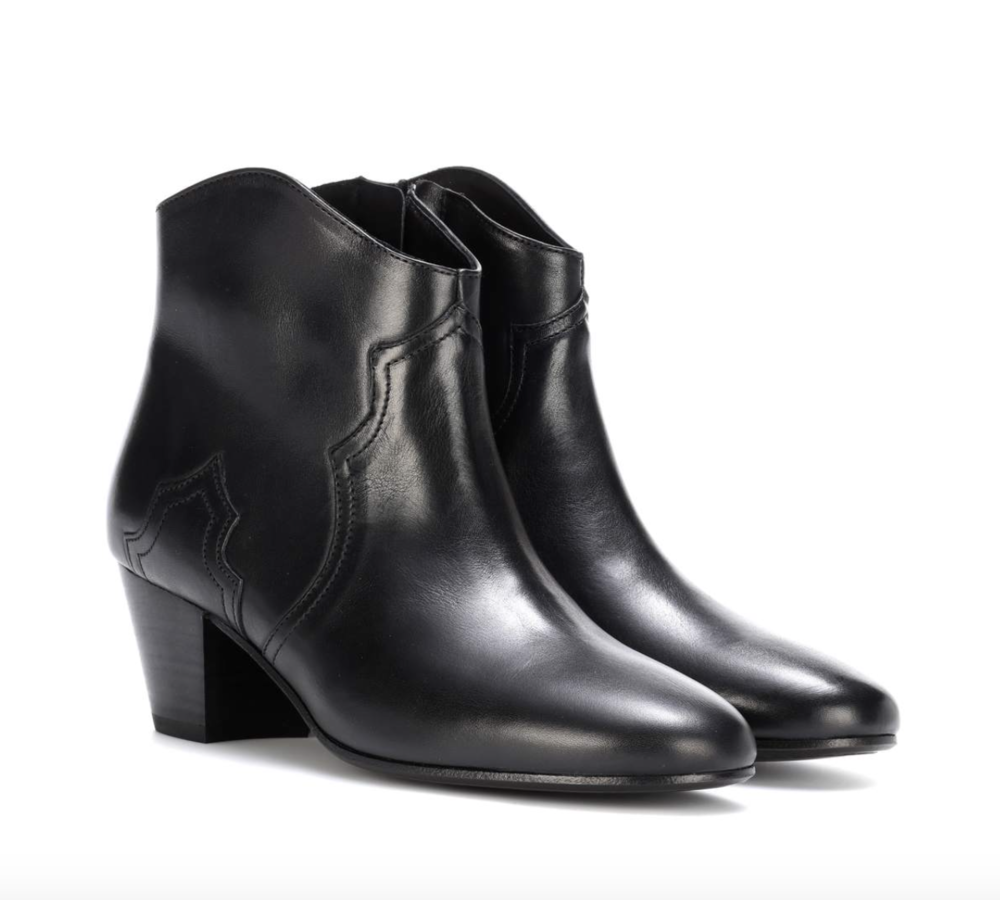 Black Leather Ankle Boots   Isabel Marant £410