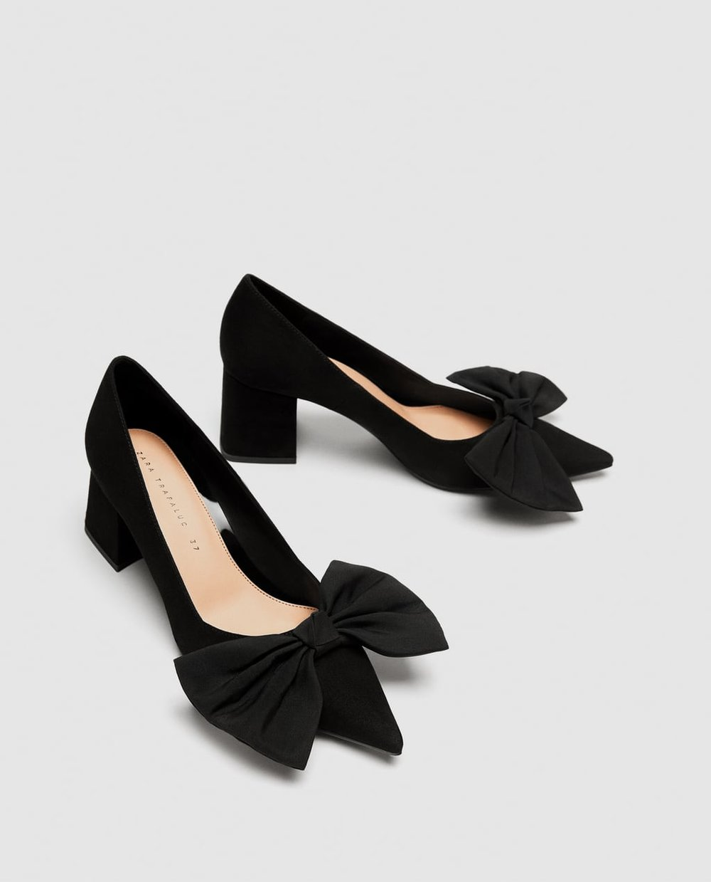Chic Low Block Heel with Front Bow  Zara £19.99