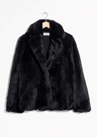 Black Faux Fur Short Jacket  & OTHER STORIES £155