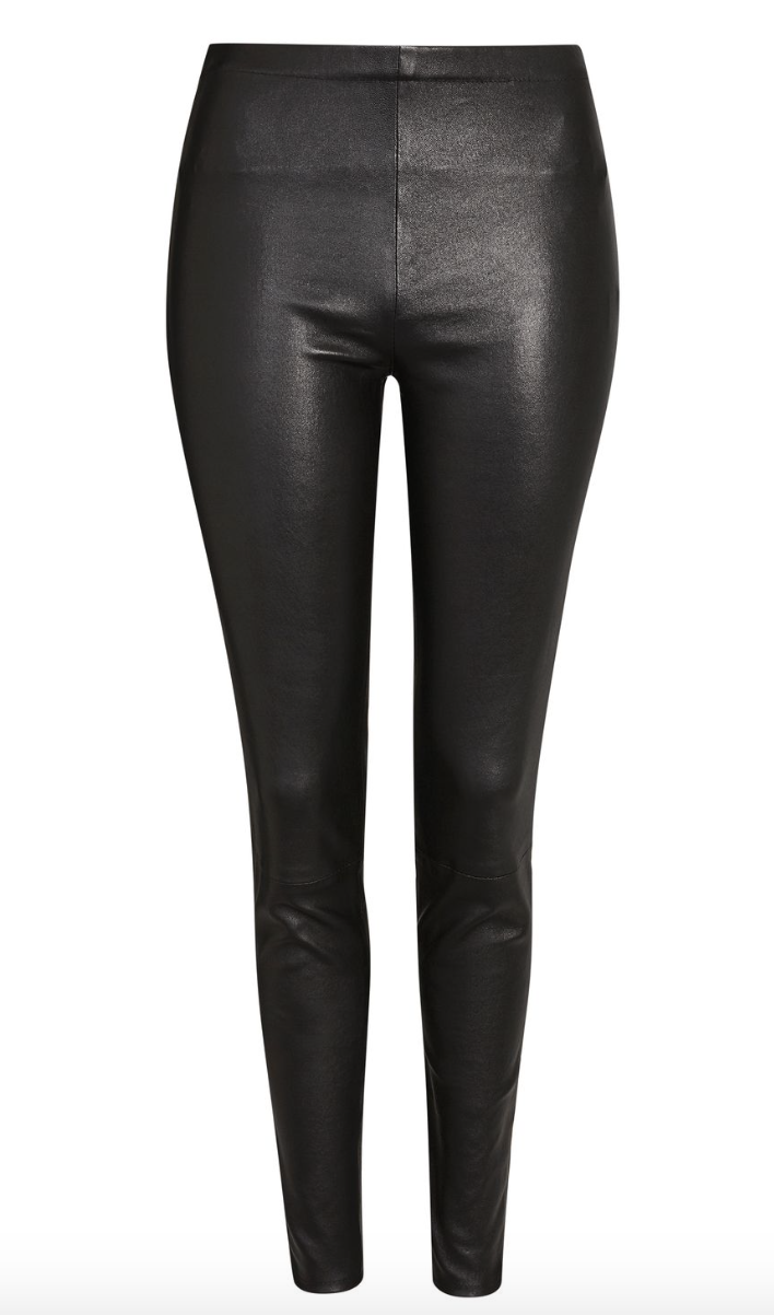 Black Leather Trousers  Topshop £225