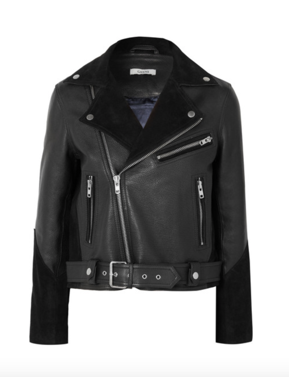 Leather and Suede Jacket   GANNI £535