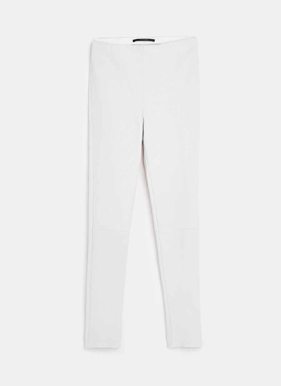 White Nappa Leather Trousers  Uterque £330