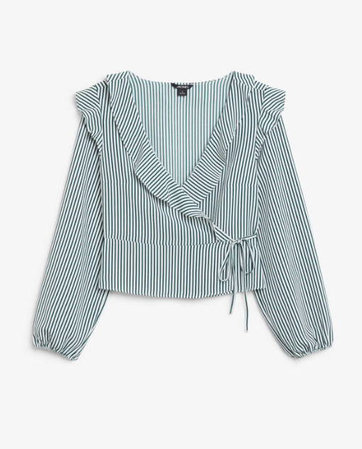 Ruffle Wrap Blouse  Monki £30