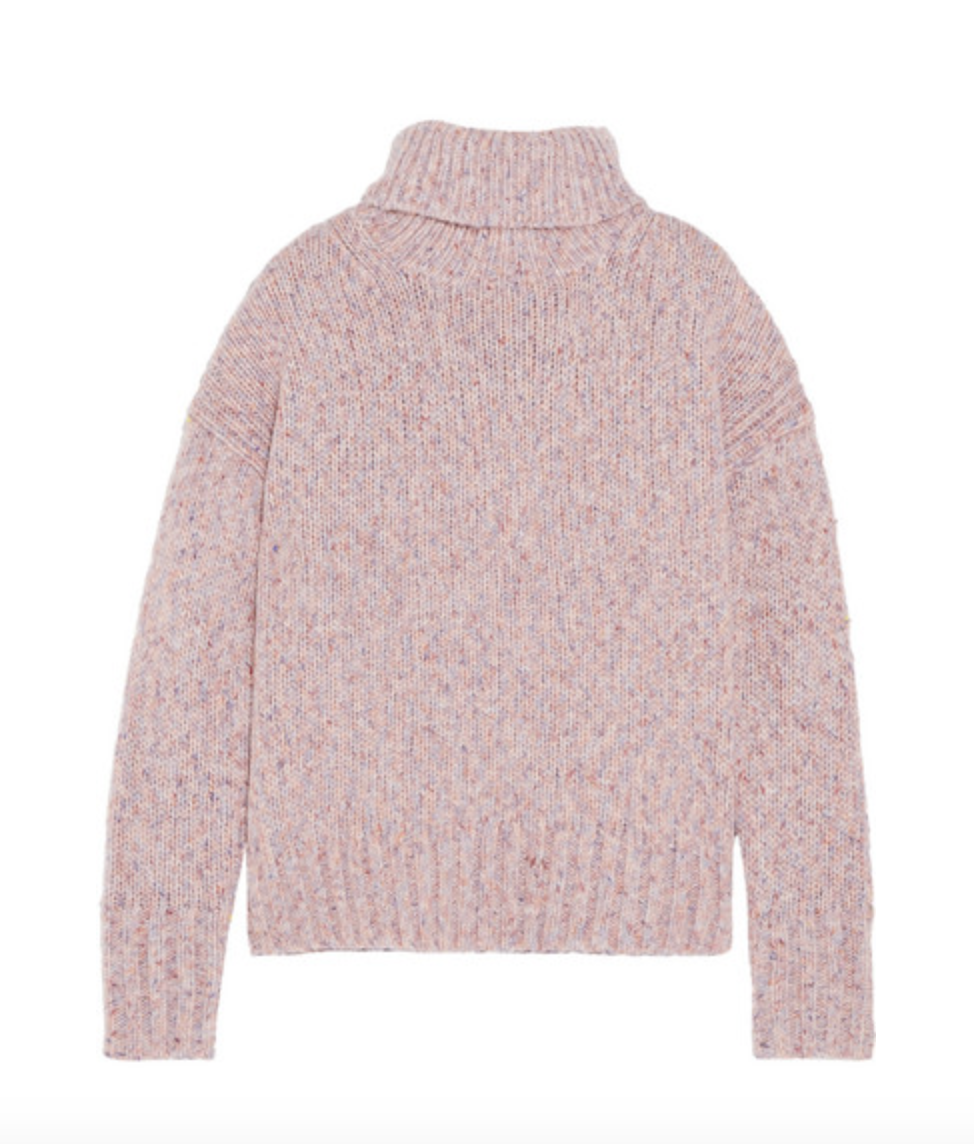 Blush Roll Neck Wool Sweater  J Crew £130