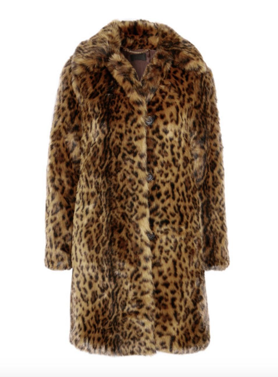 Faux Leopard Furry Coat  J CREW £330