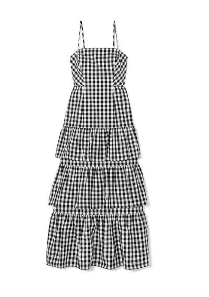 Gingham Tiered Ruffle Dress  J Crew £195