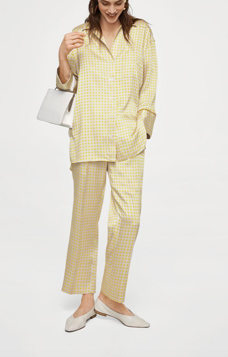 Pyjama Style suit   Mango £109.98