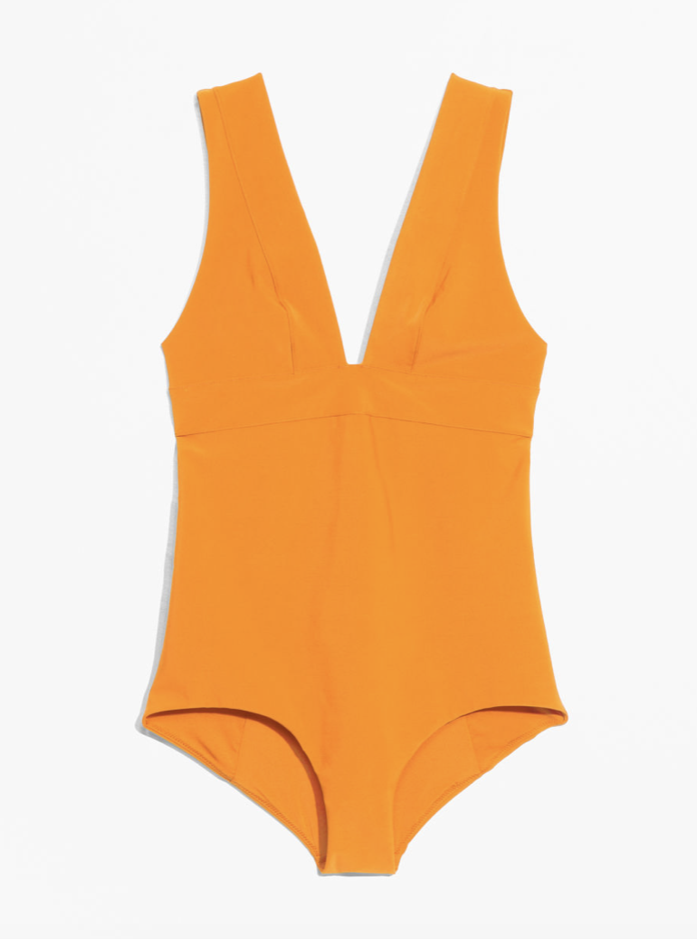 Mustard V-Cut Swimsuit  AND OTHERS STORIES £49