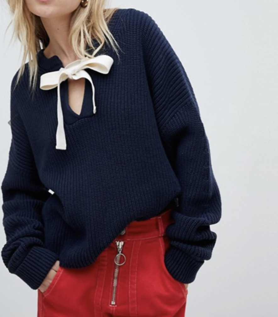 Tie Neck Jumper  WHISTLES £119