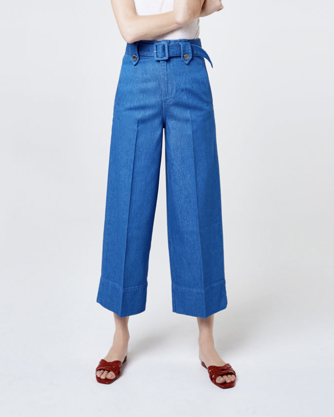 Wide Leg Cropped Cotton Jeans  UTERQUE £89