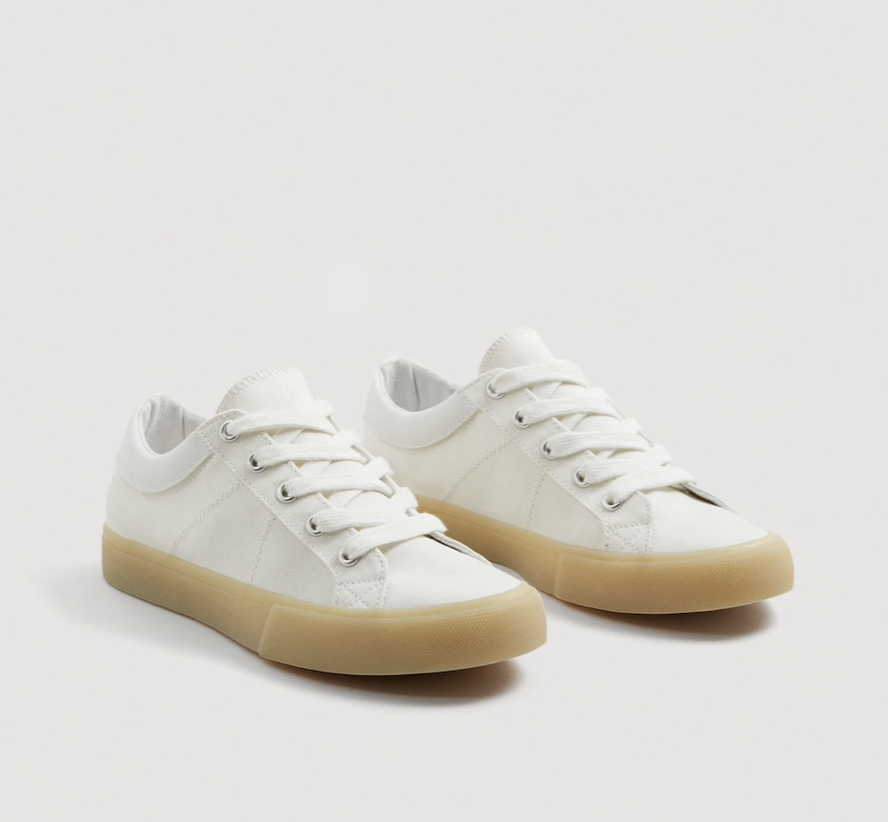 Contrast Sole Sneakers  MANGO £29.99