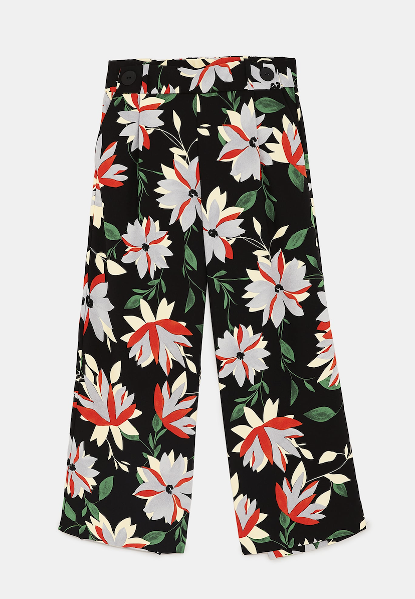 Flowing Cropped Trousers ZARA £19.99
