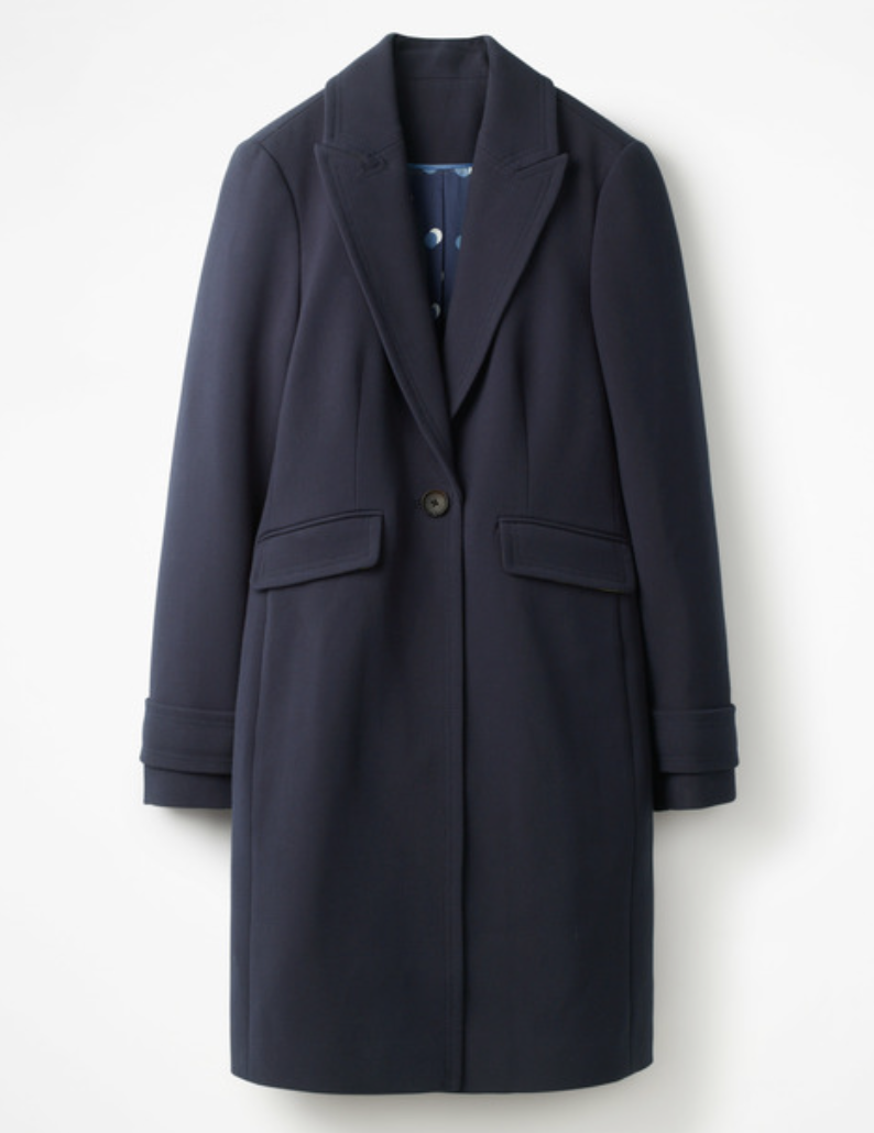 Navy Relaxed Fit Coat  BODEN £85
