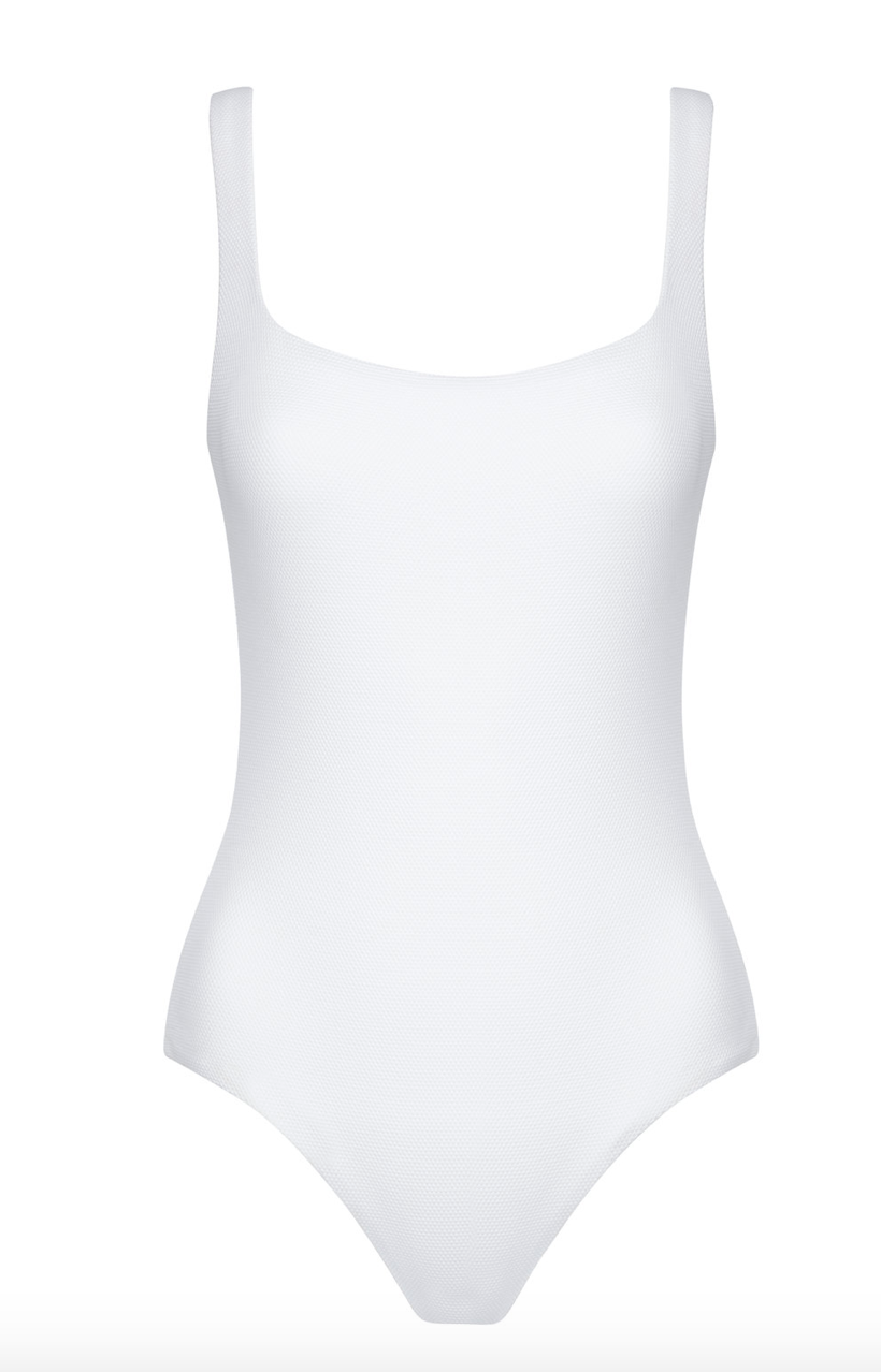 White Textured Chic Swimsuit  COSSIE + CO £130