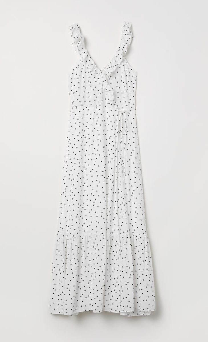Long Flounced Dress  H&M £39.99
