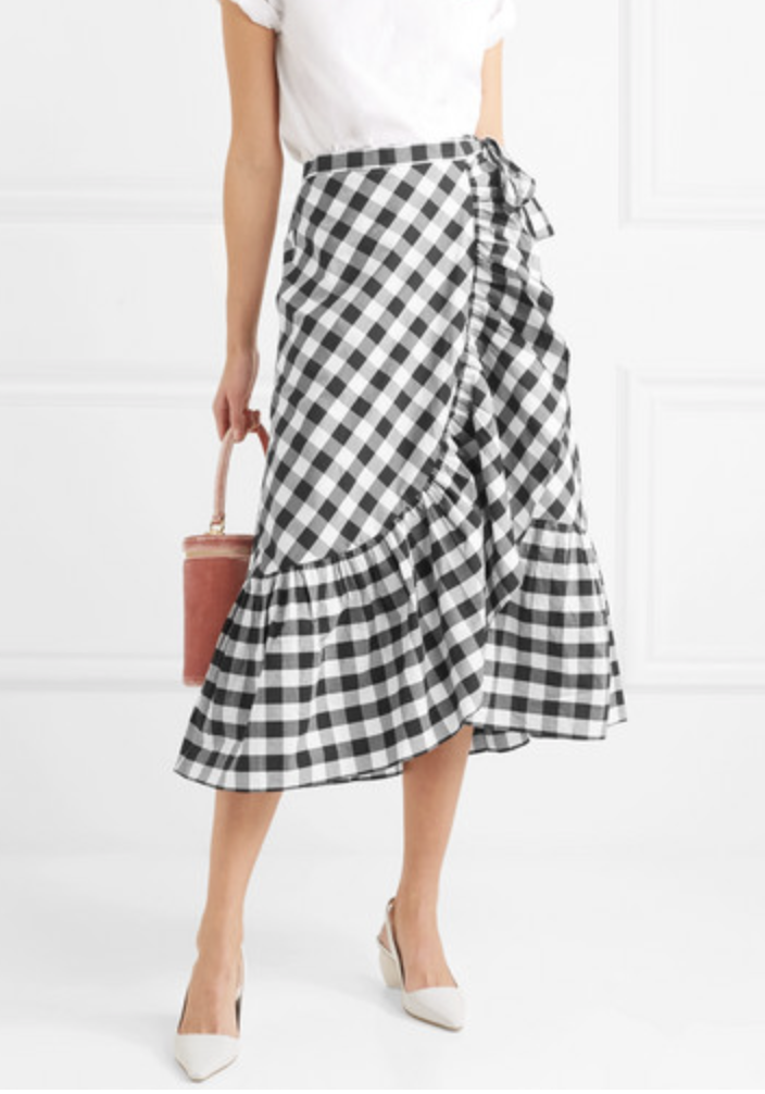 Ruffled Gingham Skirt  J CREW £205