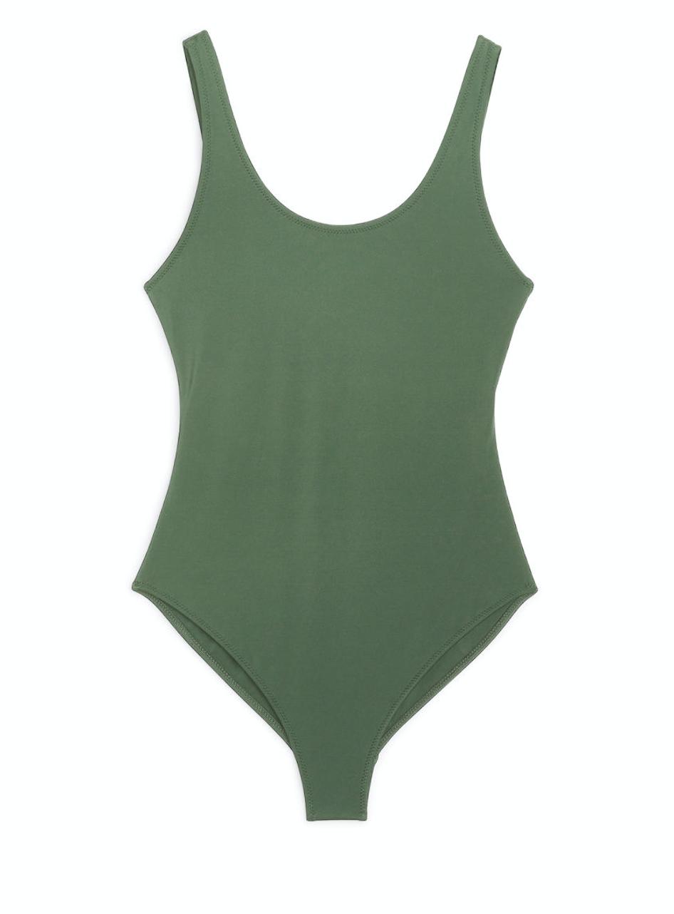Khaki Swimsuit  ARKET £39