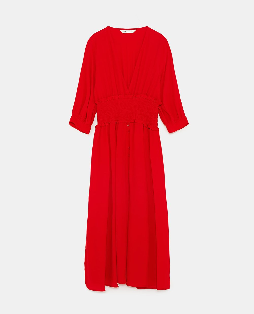 Red Dress with Elastic Waistband  ZARA £39.99