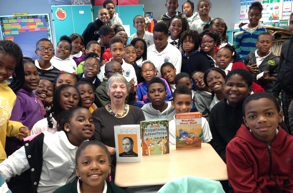 Surrounded by the wonderful fourth grade classes at Dr. Martin Luther King Charter School, Ninth Ward, New Orleans