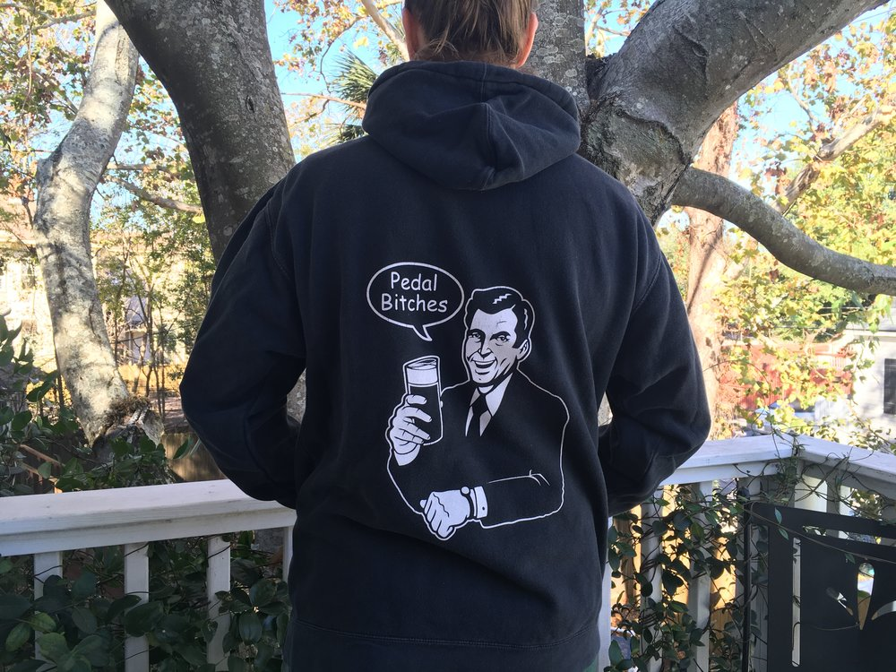 Stay warm with our hoodie!
