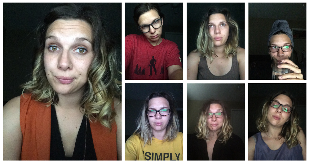 These are some really attractive selfies I took last year right before I launched this blog  while I was still working my full-time job as a writer/photographer at a nonprofit. These are all taken either late at night or early in the morning. I.was.so.tired.